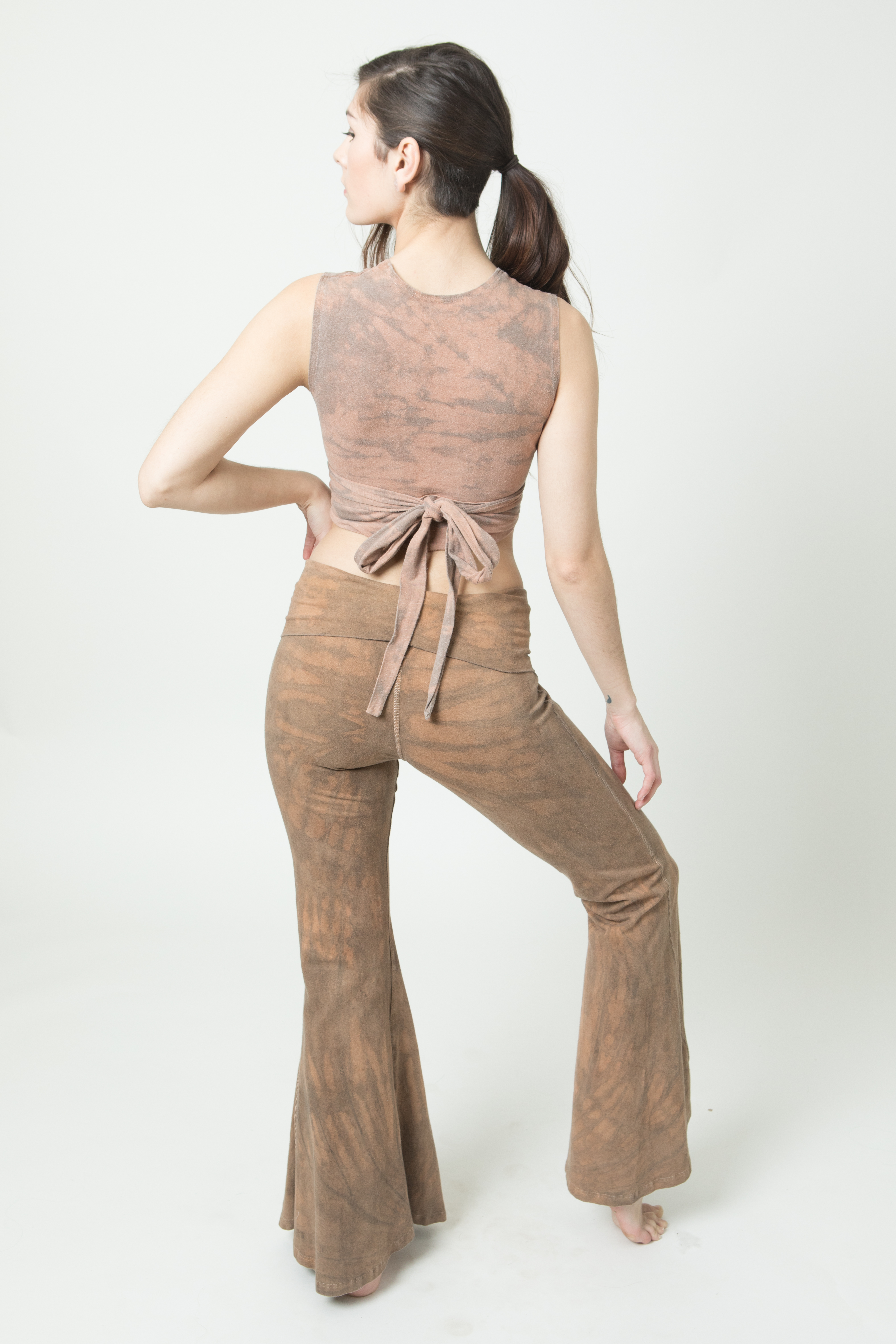 OOAK Rust Wrap Top and Belle Bottoms Back